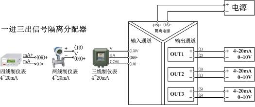 【1分3信号分配器 电流信号分配器soc-aa3-2-n】