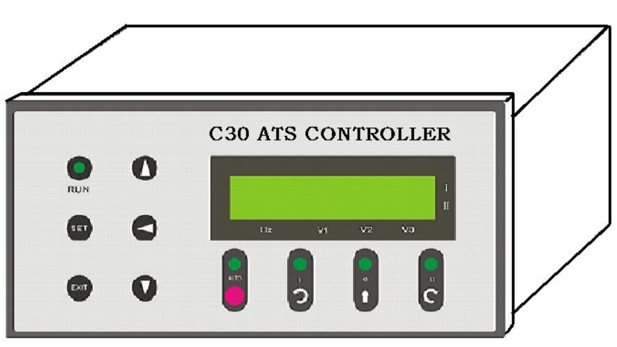 SMICO C30型自动转换开关控制器是为各种自动转换开关配套的通用智能控制器,适用于二路市电或市电与油机等双电源供电场合下的转换监视与控制。 本产品采用微型控制电脑和数字信号处理技术,配备液晶显示屏和标准串行通信接口,具备多种控制类型,可以自动和手动操作,能够同时检测并显示每路每相的电压和油机供电频率,能够现场设置和调整报警范围、时间延时等控制参数,能够远程通信遥控开关转换、遥信开关状态、遥测供电信息、遥调控制参数。精密超小型化的设计和灵活的操作界面,使得本产品能够安放在各种配电箱或配电柜上,并能与多种